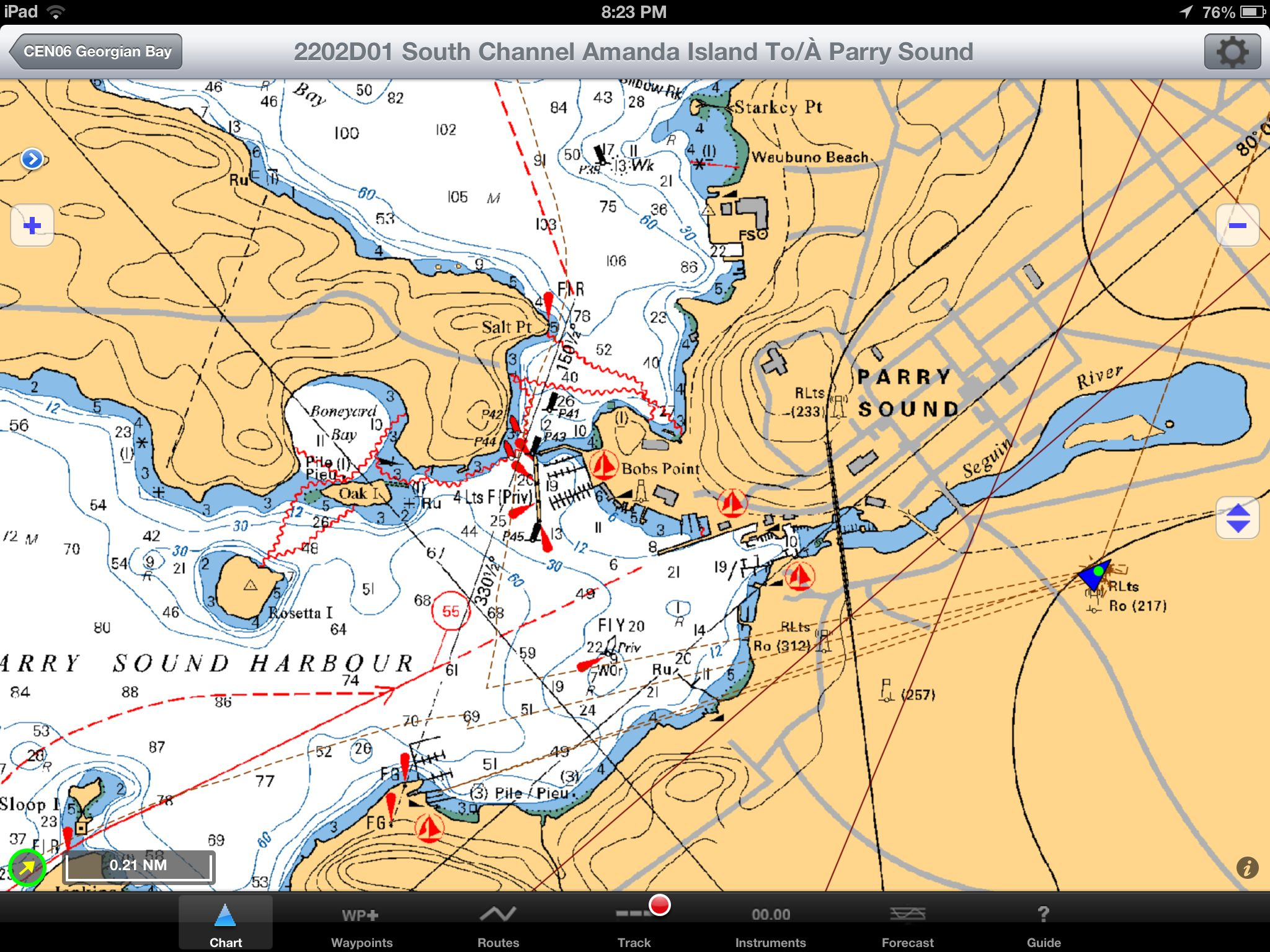 Navigation parry sound boating heres the navionics view of parry sound harbour vector graphics gumiabroncs Image collections